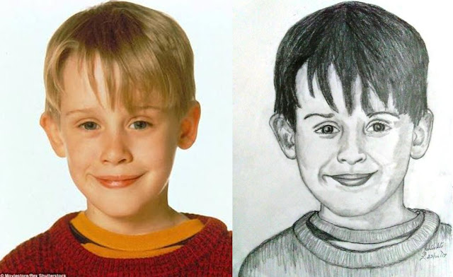 PENCIL DRAWING  - Home Alone - Macaulay Culkin