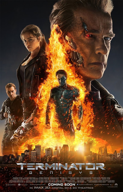 Terminator Genisys, Directed by Alan Taylor, Movie Poster, starring Arnold Schwarzenegger, Jason Clarke, Emilia Clarke, Movie Review by Murtaza Ali Khan