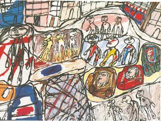 Jean Dubuffet, La rue, 1980