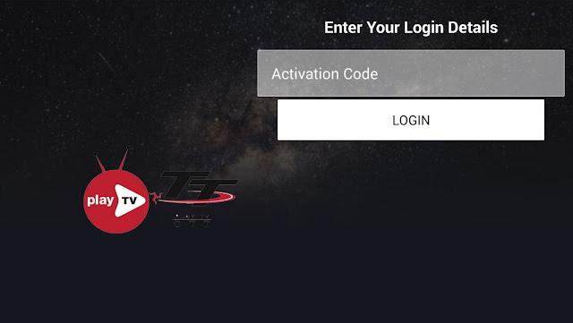 Application Playtv-ott + Code Activation