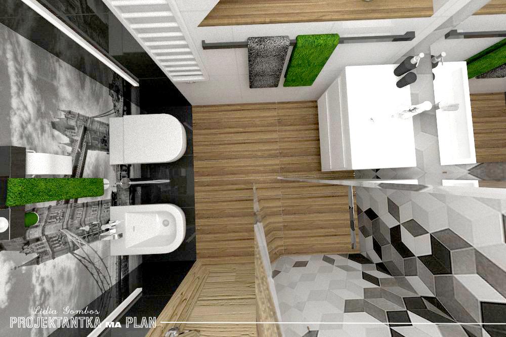 Projektantka Ma Plan Wnętrze łazienki O Pow 5m2 Płytki W