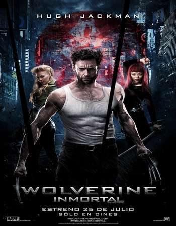Poster Of The Wolverine 2013 Hindi Dual Audio 600MB BRRip 720p HEVC Free Download Watch Online downloadhub.in