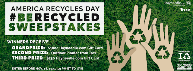 Keep America Beautiful wants you to enter for your chance to win Hayneedle gift cards and planters from Trex Outdoor Furniture!