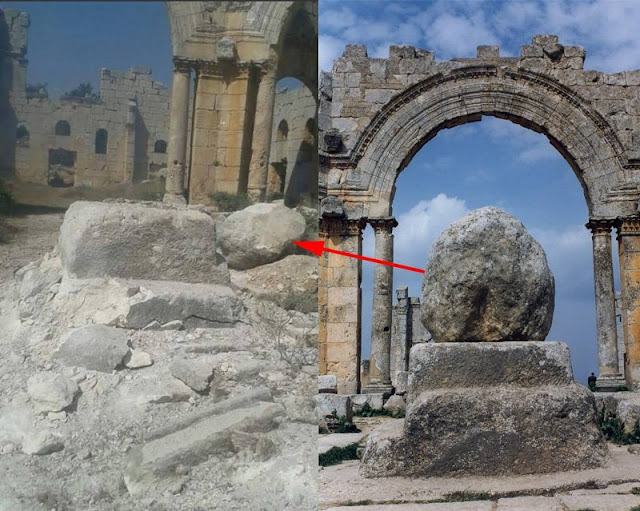 Byzantine Church of Saint Symeon Stylites in Syria damaged by missile attack