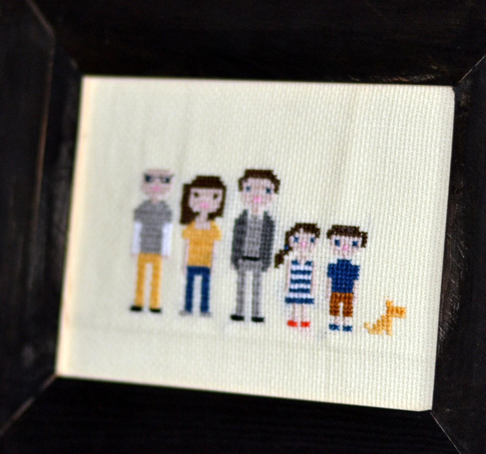 Cross stitch family portrait rachel teodoro cross stitch embroidery family solutioingenieria Gallery