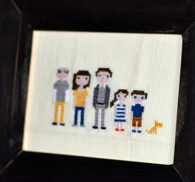 cross stitch embroidery family