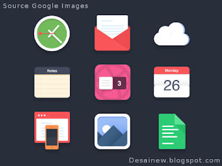 Flat Design UI, icon, website