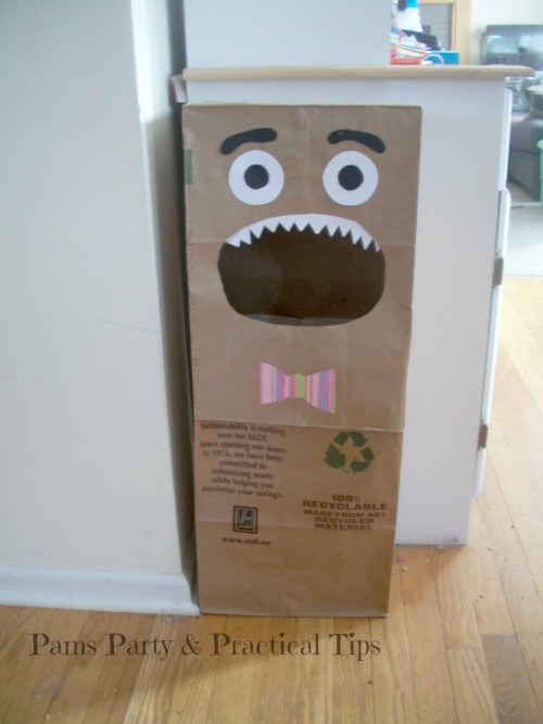 Recycle Monsters for Earth Day, kids crafts