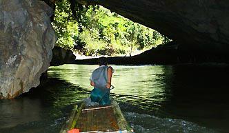 Thailand caving Pai