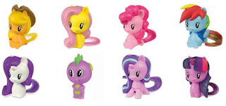 The complete set of 2018 MLP Happy Meal figures