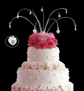 elegant swarovski wedding cake topper