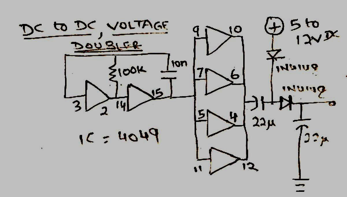 high current power supply schematic with Simple Dc To Dc Voltage Doubler Circuit on 6146psupply together with Led Chaser Ic 4017 Ic 555 also Project106 together with Piezoelectric Heat Sensor further Inductor Types And Symbols.