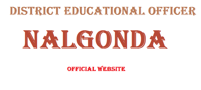 DEO Nalgonda Website Nalgonda DEO Website district Educational Officer