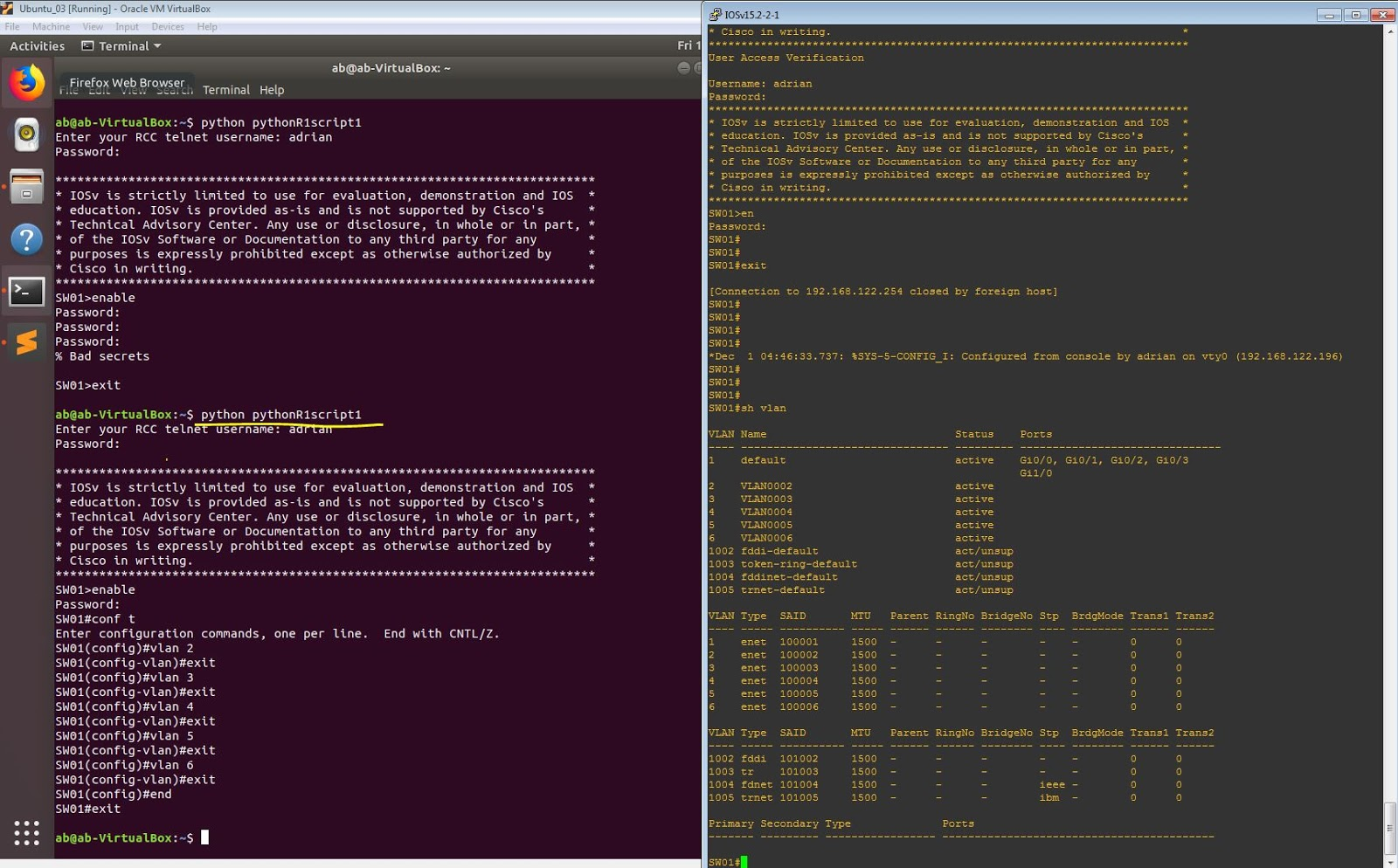IT Life will find a way: Python and Telnet: Configure Switch