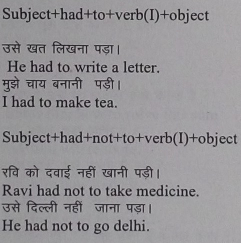 Example sentences of had to with Hindi translation
