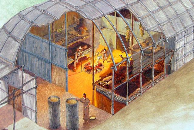 Northkill: Iroquois Longhouse Interior