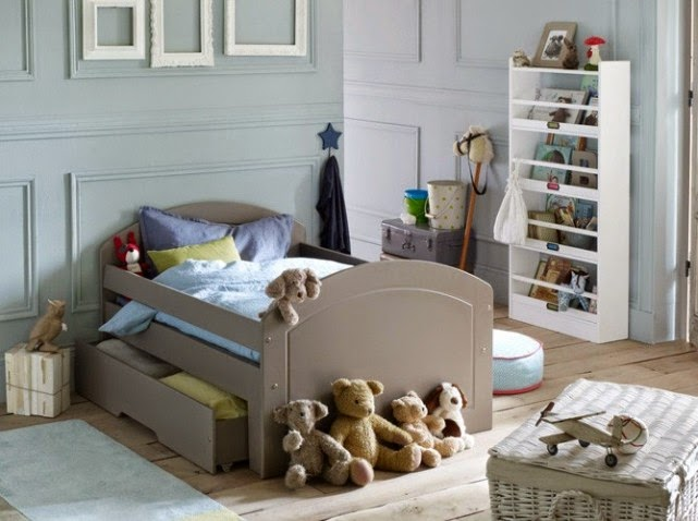 dormitorios juveniles en celeste y gris ideas para. Black Bedroom Furniture Sets. Home Design Ideas