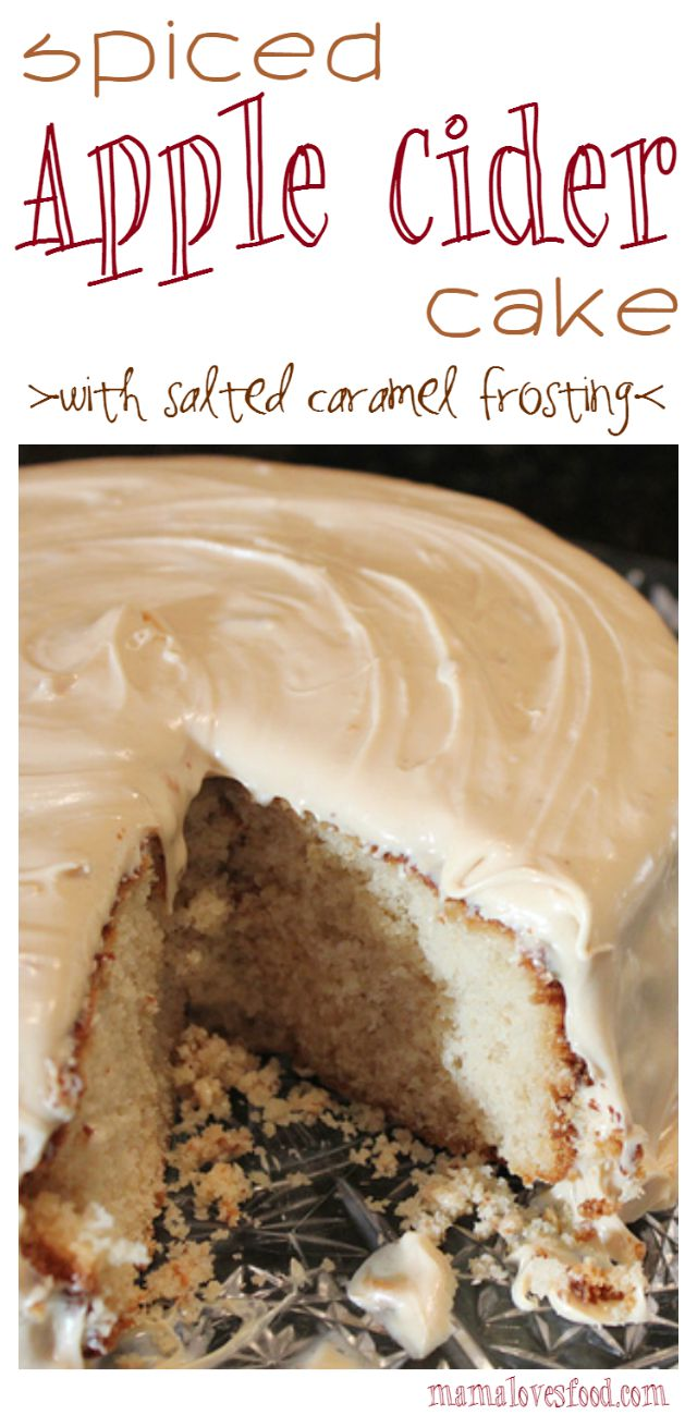Spiced Apple Cider Cake with Salted Caramel Icing