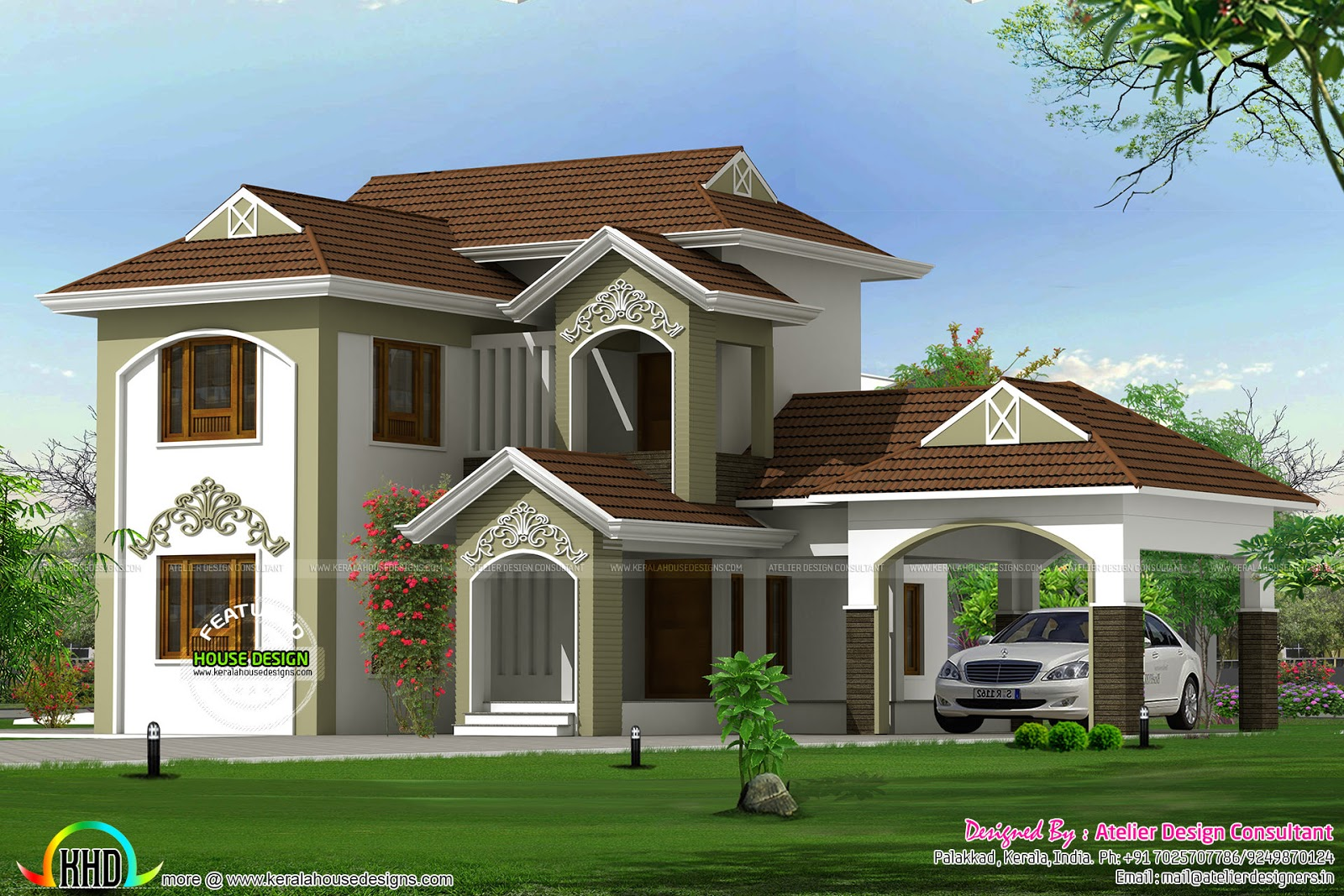 New look traditional mix home kerala home design and for Traditional home designs