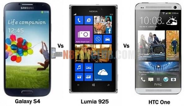 Galaxy S 4 vs Lumia 925 vs HTC One