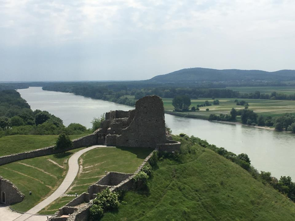 Devin Castle lower castle view of the Danube Slovakia