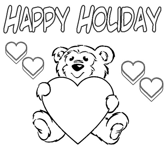 coloring pages kids holidays | Christmas Kids Coloring Pages Learn To Coloring ~ Top ...