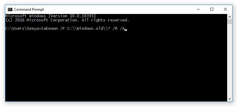 Hapus Windows.OLD CMD