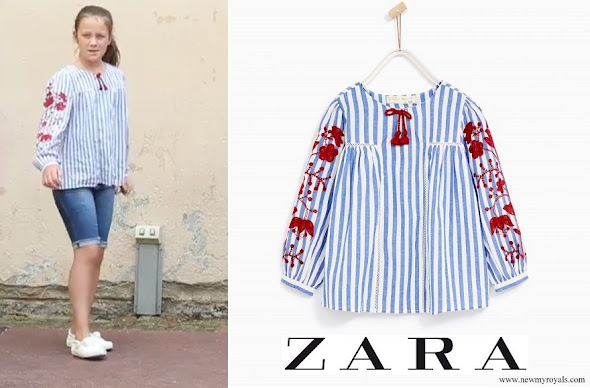 Princess Isabella wore Zara Shirt