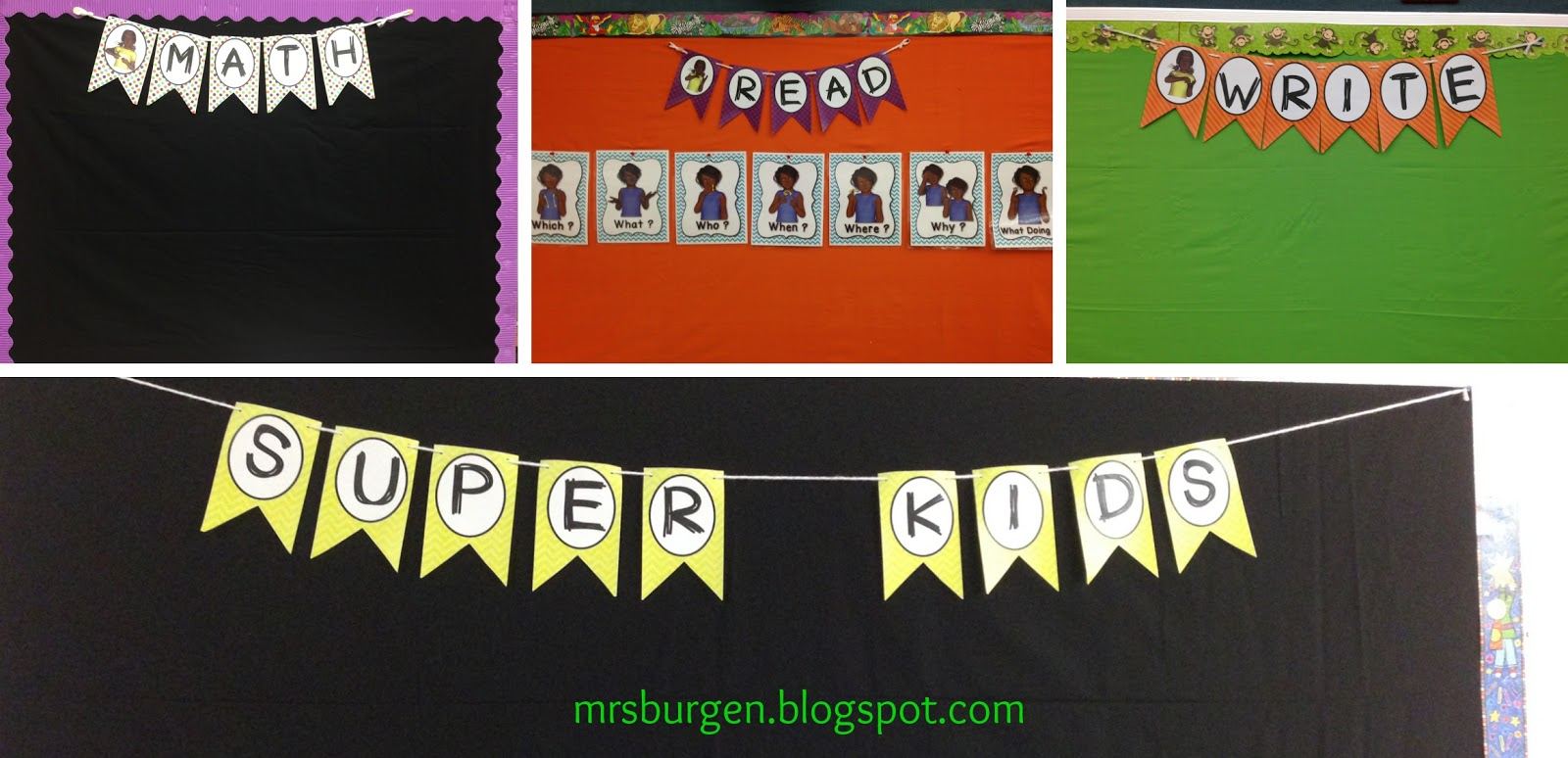 Classroom decor, back to school, American Sign Language, banners