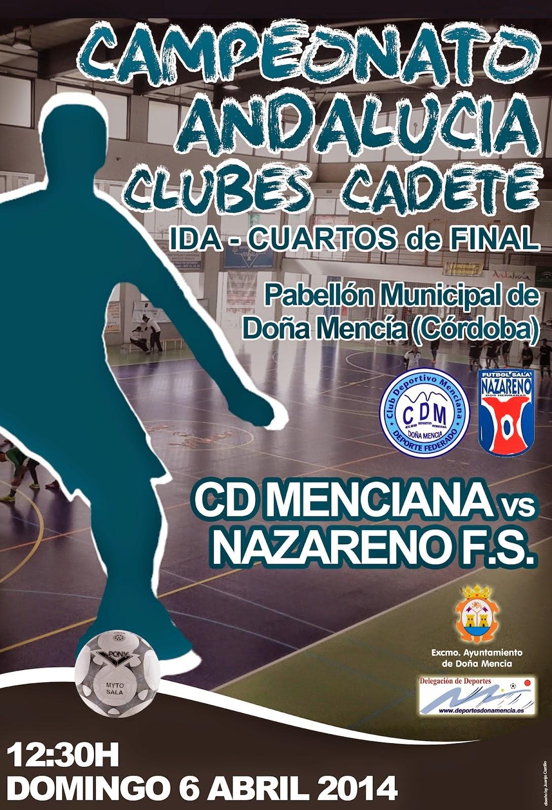 Este domingo a las 12´30 horas el CD Menciana y el Real Betis Nazareno FS  jugarán en el pabellón de deportes de Doña Mencía el partido de ida de  cuartos de ... de20914370702
