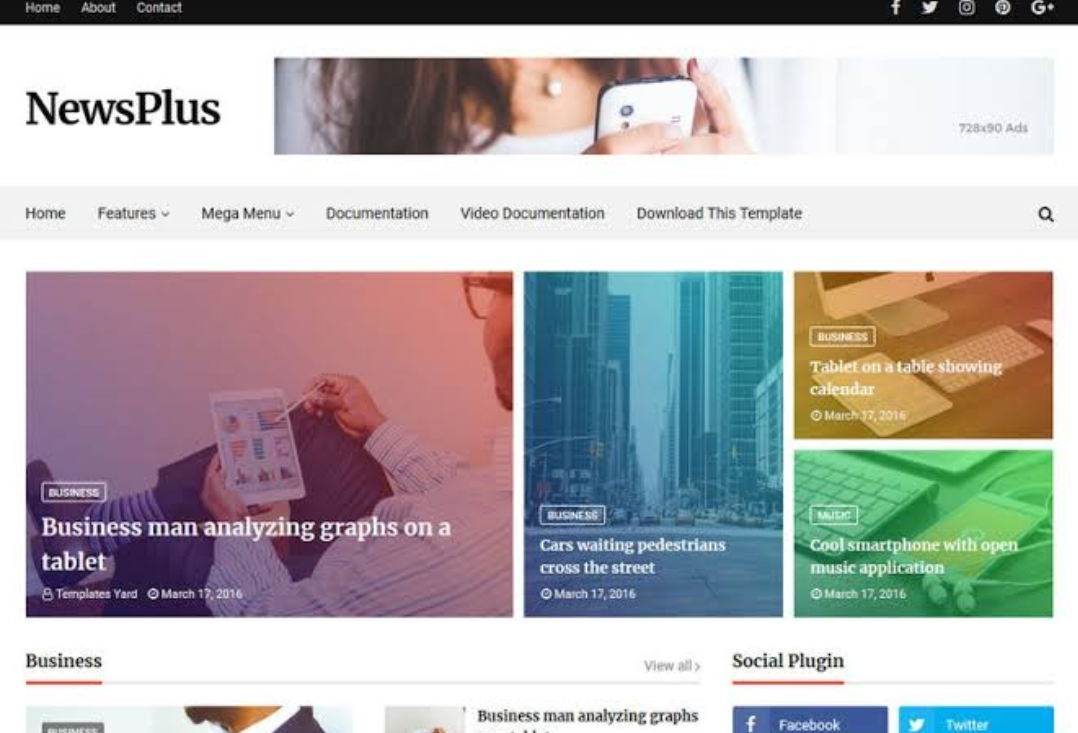 Newsplus_Blogger_Theme