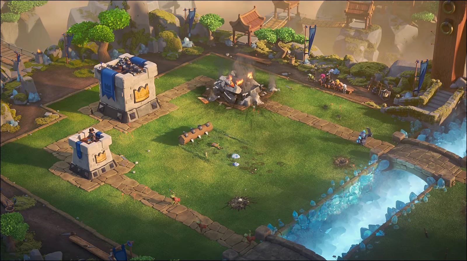 Wallpaper Clash Of Clans 3d Comercial De Clash Royale No Meu Tempo Anivers 225 Rio De