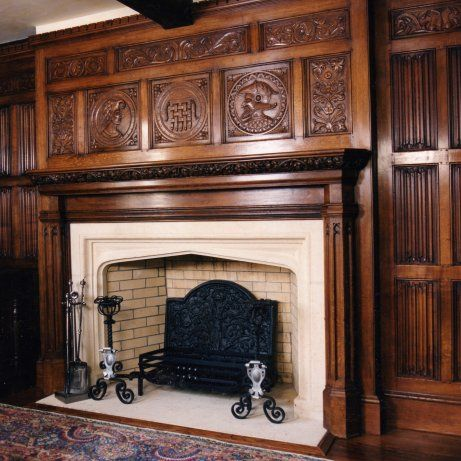 Eye for design linenfold a classic design is becoming for Tudor fireplaces