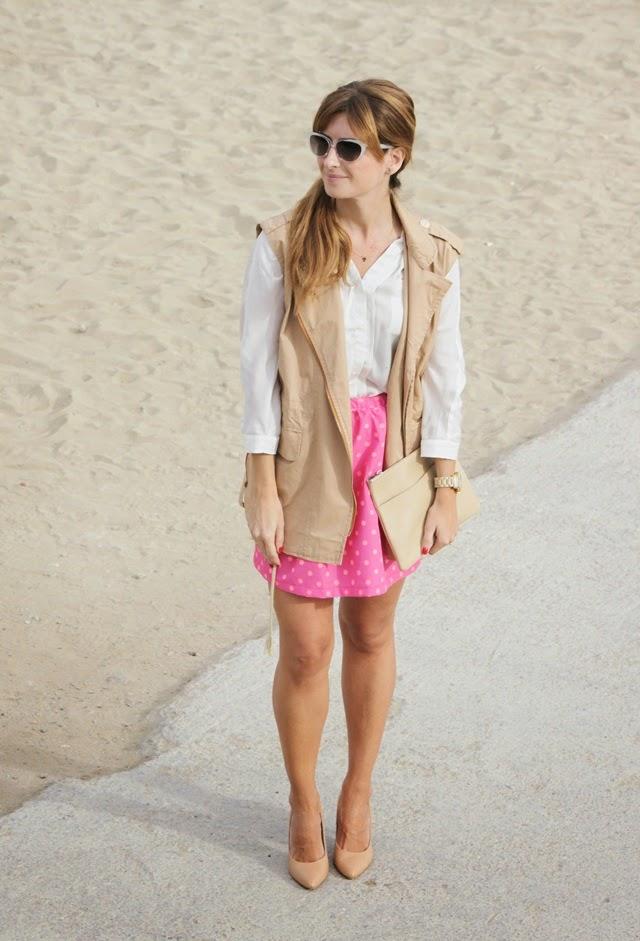 Lunar falda blanca y rosa 4