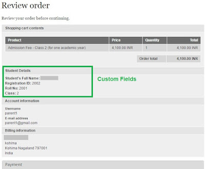 Drupal Commerce custom fields review order