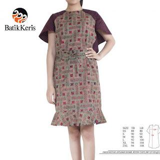 model baju sackdress batik sutra untuk pesta