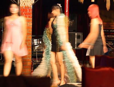Show at Theingyi Zay a Asian Nightclub Zone with pretty women
