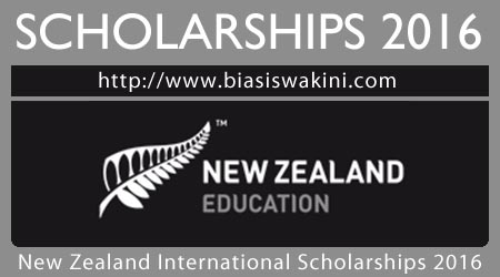 New Zealand International Doctoral Research Scholarships 2016