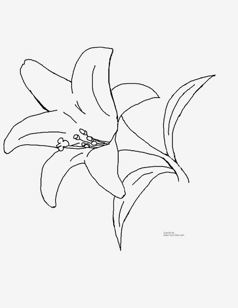 Spring Flowers Coloring Pageseaster Lily Coloring Page Coloring Pages