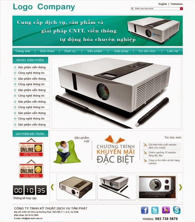 thiết kế website bán hàng thiết bị văn phòng