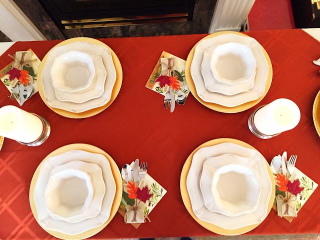 thanksgiving table setting decor ideas leaves fall pinterest