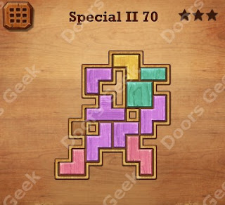 Cheats, Solutions, Walkthrough for Wood Block Puzzle Special II Level 70