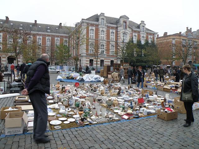 Flea Market- Tintin in Brussels,Belgium