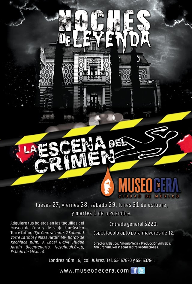 Noches de Leyenda en el Museo de Cera, La escena del crimen