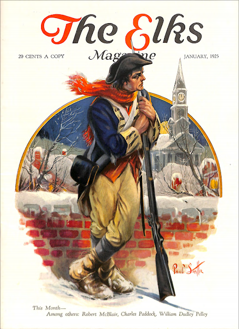Cover by Paul Stahr for The Elks magazine 1925 January