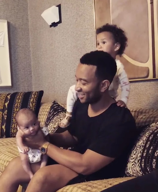 John Legend and Chrissy Teigen Share Adorable Photos of Luna and Miles in Bali.