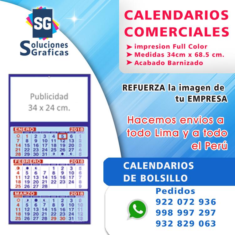 Calendario De Mecanica Hot.Calendarios Publicitarios Imprenta Grafica Lima Peru
