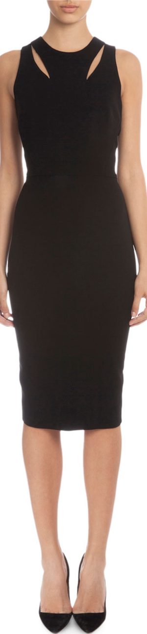 Victoria Beckham Sleeveless Sheath Dress W/Cutouts
