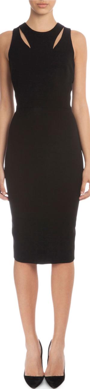 Victoria Beckham Sleeveless Sheath Dress W/Cutouts
