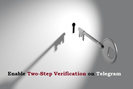 Enable Two Step verification on Telegram